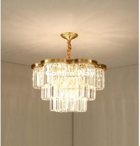 Pendente Bronze libero di trasporto della lampada Vintage Modern Luci del pendente E14 LED di cristallo di rame illuminazione pendente Hanging Light Fixture