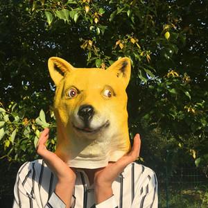 Ekspres Kargo Bedava Yenilikçi Cadılar Bayramı Kostüm Partisi Silikon Dog Head herhangi bir çocuk veya yetişkin sığacak kadar Roomy maske.
