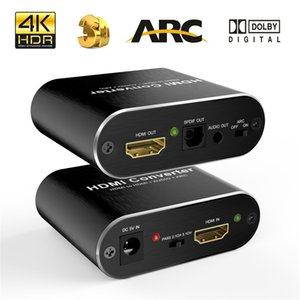120set 4K 60Hz HDMI Audio Extractor 5.1 ARC Splitter Pour SPDIF optique Toslink + 3,5 mm stéréo