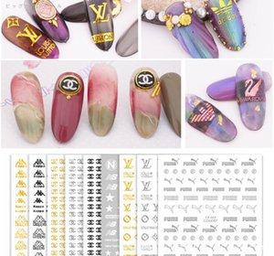 Tırnak DIY Aksesuarları Tırnak Aplike 3D Yapışkan Çevre Sticker Altın Gümüş Dekorasyon Aracı Çıkartma ABD, AB Marka tarzı