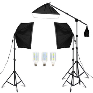 Fotografie 50x70cm Studio Softbox Beleuchtung Kit Arm für Video YouTube kontinuierliche Beleuchtung Professional Lighting Set Fotostudio