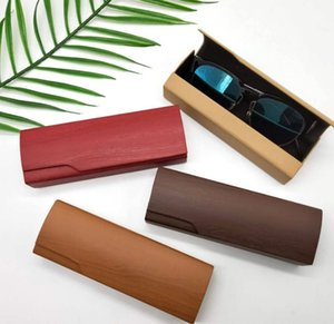 우드 그레인 PU 안경 케이스 크리 에이 티브 패션 선글라스 보호 상자 수제 나무 안경 상자 안경 액세서리 맞춤 로고