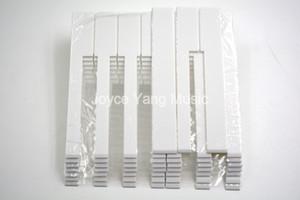 Piyano Anahtar Kalın 52mm Ücretsiz Nakliye Beyaz Anahtar Skin ile 52pcs Kore Piyano Aksesuarları Piyano Tuş Üstü Tamir Parçaları