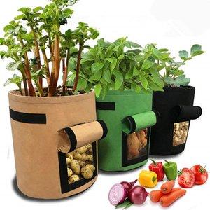 Home & 3 Colors DIY Planter Garden Grow Bag Vegetable Flower Pot Potato Garden Pot Grow Container Bag