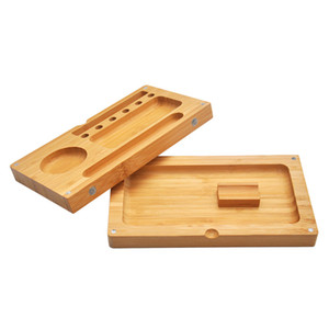 Wood Magnetic Tobacco Accessories Contain Case 2 Pieces Wax Dab Tool Case For Stashing Water Pipe Bong Wax Dabber Case Hookah Varpoizer Tool