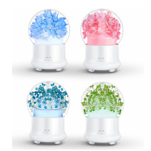 7Colors USB Ultrasonic Air Humidifier Colorful Night Light Essential Oil Aroma Diffuser Lamp Round Ball Shape with Inner Landscape RRA2827-3