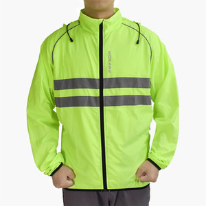 Men's Women's Cycling Jacket Vest Windproof Water-Resistant Coat Breathable Outdoor Sportswear Long Sleeves & Pockets - Green- Choose Sizes
