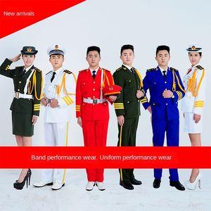 2YD7I uniform dress Armed Forces Honor Guard flag clothinguniform clothing raiser suit marching band performance costumes sea air force clot