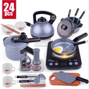 Novo 1 Conjunto Pretend Play Toy Forno de Microondas das Crianças Cozinha Cozinha Brinquedo Chaleira de Simulação Pequenos Aparelhos de Cozinha Brinquedo D151 SH190907