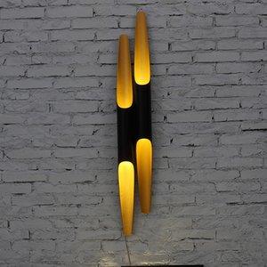 Coltrane خمر أدى الجدار ضوء للمنزل الألومنيوم TubePipe BlackGold رئيس واحد / رؤساء مزدوج ما بعد الحداثة الشمال الجدار سكون