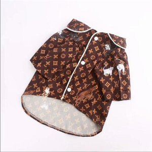 Harf Pet Gömlek Moda Marka Köpek pijamalar INS Stil Pet Köpek Cihazlar Teddy Bulldog Schnauzer Clothes yazdır