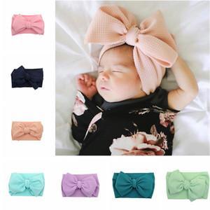 Bébé Bows élastiques Bandeaux Filles bowknot Wraps cheveux enfant en bas âge papillon Noeud Bandeau Turban Parti Accessoires cheveux TTA2074-1