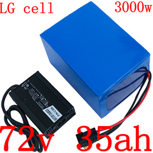 batería de 72V 72V 35AH de litio 2000W 3000W bicicleta eléctrica scooter de uso celular LG