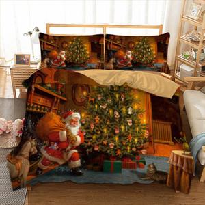 Set biancheria da letto di Natale Twin Full Queen King AU Single UK Double Size Gift From Christmas Copripiumini Federe Biancheria da letto 3D