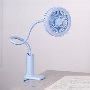 Ventilador de lámpara de escritorio LED, ventilador de luz LED ajustable de 360 grados, ventilador de lectura de cabecera con USB recargable, viento Natural.