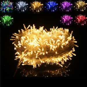 Details about 100LED String Fairy Lights On Clear Cable For Christmas Tree Party Wedding Christmas Light String