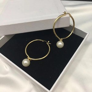 Circle Pearl Earrings Designer Jewelry Luxury Jewelry Earrings Sphere For Ladies New brand jewelry women Christmas Party Gift1