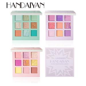 HANDAIYAN Nude Eyeshadow Palette 9 Pearlescent Shimmer Matte Brighten Easy to Wear Private Label Makeup Palette