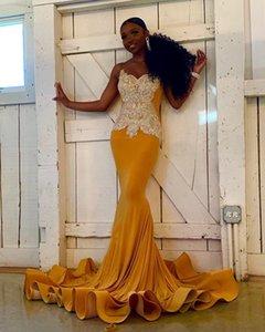 Gold-Nixe-lange Abendkleid Stunning Silber wulstige Handarbeit African Black Mädchen Abendkleider 2020