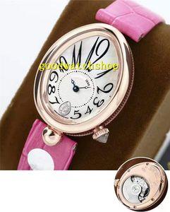 GB Nueva Reina de Nápoles 8918BR lujo de las señoras del reloj de oro rosa Relojes mujer Cal.537 / 3 de la madre-de-perla automática zafiro Esfera impermeable