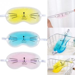 Sleeping Eye Mask Cooling Cute Cartoon Cat Transparent Relieve Relax Gel Ice Eye Shade Eyepatch para Sleep Eye Cover Mask