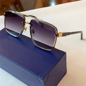 New fashion designer sunglasses 1098 square crystal cutting lens frame Simple and generous men outdoor uv400 protection eyewear