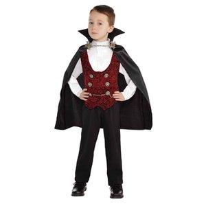 Karanlığın Cosplay Kostümler Çocuklar Vampire Boys Aksesuarlar Dört Boyutları Temin ile Halloween Giydir Partiler için