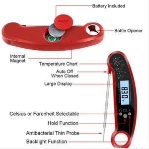Termometre Dijital Anında Et Termometre En su geçirmez Anında Oku Termometre Kalibrasyon ve Arka Işık Fonksiyonu Termometreler DHC16