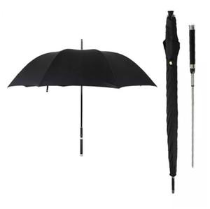Lungo manico Automatic Man Umbrella modo di marca antivento Affari Spada Guerriero Soleggiato creativo Black Rain Umbrella