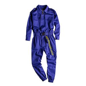 Europe et American Street Style Trend Jumpsuit Suit Hommes et Femmes Couples Pantalon Jumpsuit Outillage multi-poche