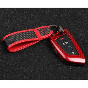 New 100% Carbon Fiber Car Key Cover Key Case Chain for BMW 1 2 3 4 5 6 7 Series X1 X3 X4 X5 X6 F30 F34 F10 F07 F20 F15 F16 Car Key Case