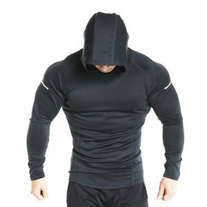 Hot Sale Mens Gym Training Felpa Giacca Uomini Top Fitness stretta con cappuccio cappuccio di allenamento di ginnastica giacca maglietta escursionismo escursioni in bicicletta