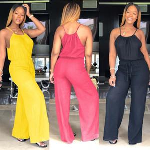 Spaghetti Strap Womens Jumpsuit solido di colore pagliaccetti Loose Women Abbigliamento casual Fashion Designer