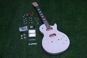 Unfinished Electric Guitar Kit One Piece BodyNeck ABR Brige Hole Top Quality