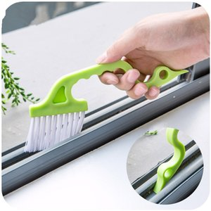 Hand held Slit Trench Doors Groove Cleaning Brush Air Conditioning Outlet Air Louvers Tube Brush plastic + brosse cleaner device