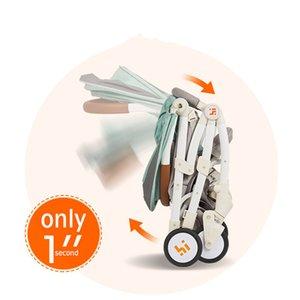 6kg Lightweight Baby Stroller Foldable Portable Stroller Kinderwagen Multifunctional Adjustable Portable Four-wheel Trolley Cart