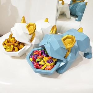 Creative Bulldog Candy Box Decoration Lucky Dog Creative Entrance Concealer Disk Door Shoe Cabinet Key Storage Box Best Gift Home Decor