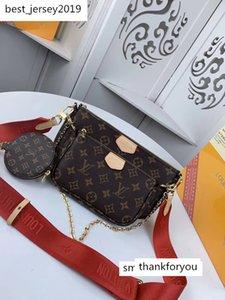 #8987 Brand L Top Quality MULTI POCHETTE ACCESSORIES Design V Shoulder Bags Fashion Women 3pcs Bags with Wallet Purse M44813 M44823 M44840
