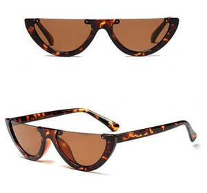 2019 Diseñador de la marca Cat Eye Mujeres Gafas de sol de gran tamaño Gafas de sol Cateye Vintage Mujer Gafas Gafas UV400 Skinny Narrow Shades