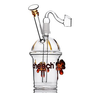 8.6 inchs Glass Bubbler Hookahs nail Accessory Smoke Oil Burner Pipe Water Bongs Heady Glasses Rigs with 14mm joint