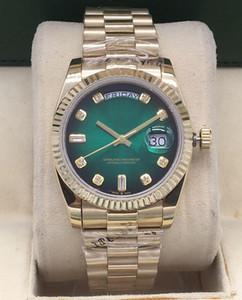 14 estilo de alta qualidade caixa original assistir 36mm m128238 128238 118238 18k ouro safira vidro movimento automático unisex assistir relógios de pulso