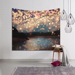 LYNGY Güzel Mum Gece Gökyüzü Duvar Goblen Ev Dekorasyonu Oturma Odası Yatak Odası Için Duvar Asılı Orman Yıldızlı Goblenler