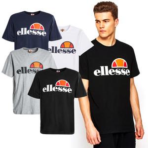 Ellesse Marque Hommes Designer T-shirts Coton Noir Matériel Blanc Gris marine d'origine de qualité supérieure Mode T_Shirt manches courtes S-XXXL