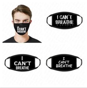 I CAN'T BREATHE Print Designer Masks Unisex Reusable Face Mask Summer Sunproof Masks Outdoor Cycling Sports Dustproof Mask Mouth-muffle D620