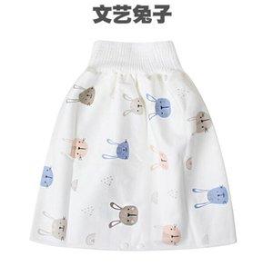 falda del pañal del bebé artefacto formación niño pañal de bebé a prueba de fugas impermeables de algodón lavable pañales de tela a prueba de orina la cama