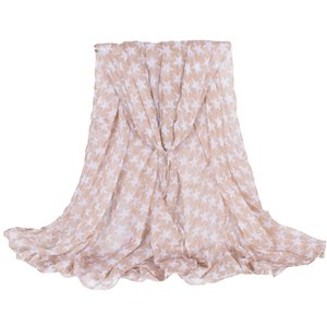 Lady Fashion Trading Company Concise Style Design Femmes Foulard Avec White Star impression polyester souple Châles 180 * 110cm