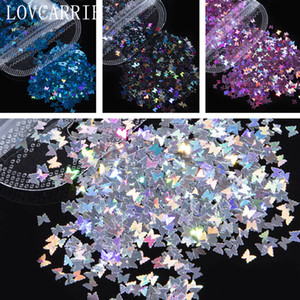 tas Décorations Strass LOVCARRIE 3D Papillon Art Glitter Paillettes Flakes Holographic or Nail Supplies Paillette Sticker pour Na ...