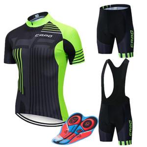 pad 9D, CAPO 2020 cuissard jersey cyclisme manches courtes été respirant ensemble des vêtements vêtements de vélo chemise Ropa