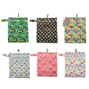 Drop Ship. Wet Dry Cloth Diaper Bags Hanging Diaper Organizer with Two Zippered Pockets