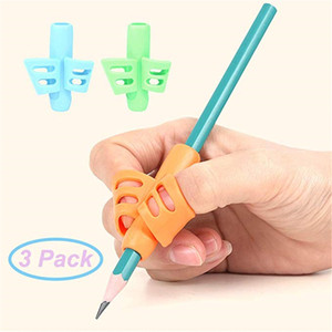 3 PCS Pencil Grips - Children Pen Writing Aid Grip Set Posture Correction Tool for Kids Preschoolers Children,Hollow Ventilation